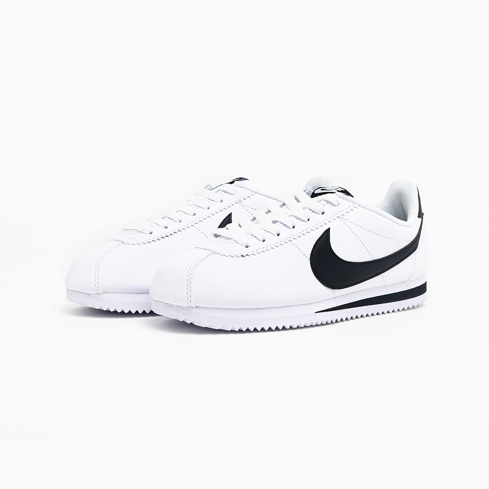 NIKE Classic Cortez Leather 白黑經典復古阿甘鞋 807471-101