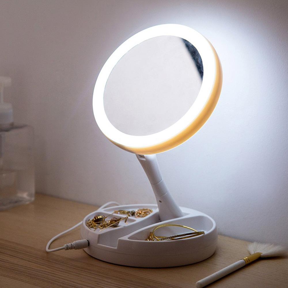 【COMET】LED雙面補光折疊化妝鏡(FH-803)