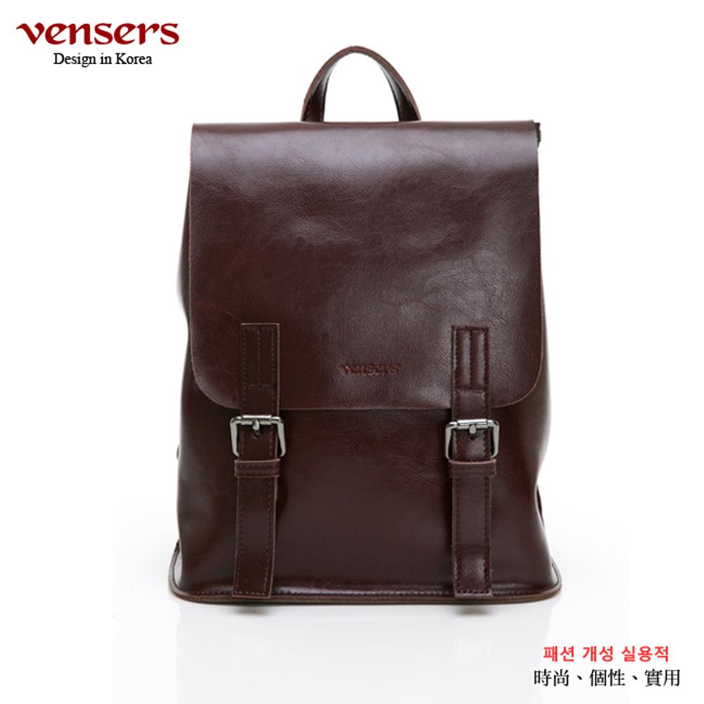 【vensers】小牛皮潮流個性多功能包(NL1075701咖啡色)