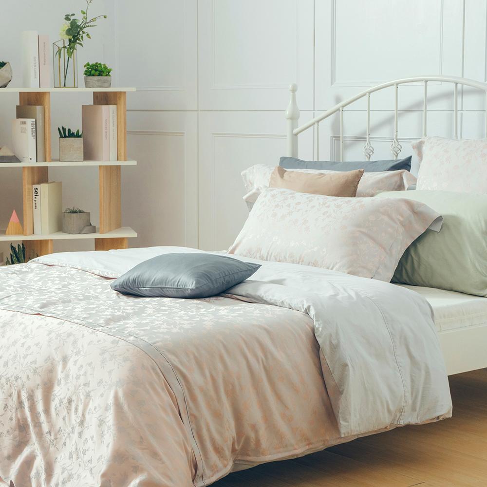 【金安德森】威尼斯 (桔) 緹花標準雙人被套四件組床組