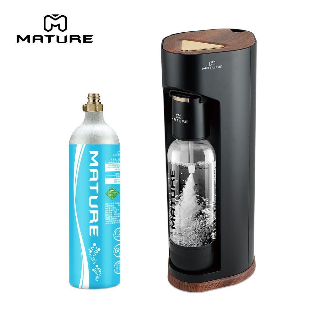 MATURE美萃 Luxury440系列氣泡水機 - 木質黑