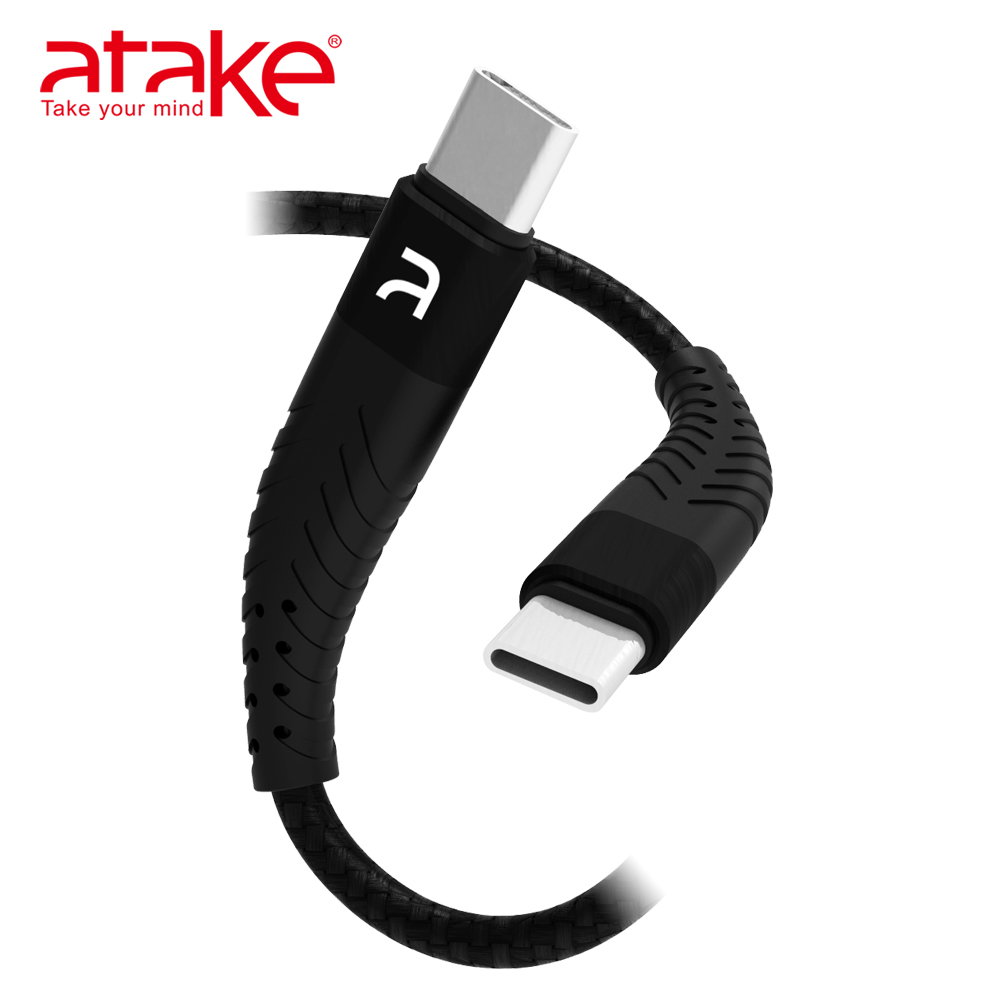 【ATake】- Type-C to Type-C 雙面盲插充電傳輸線 B4A-4KT-0001