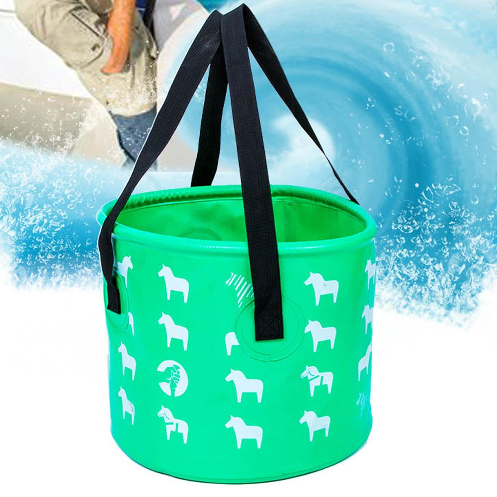 E.City_戶外可折疊露營加厚提水桶釣魚置物桶