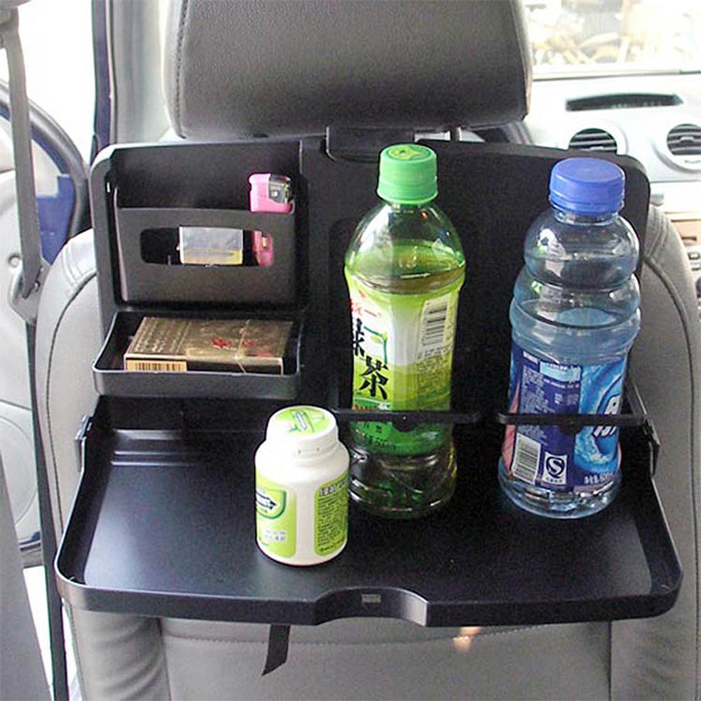 E.City_車用多功能可折疊椅背置物杯架餐盤
