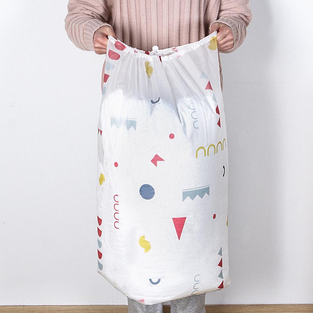 E.City_(買2送2)PEVA圓形束口搬家袋衣物棉被袋收納袋 共4入