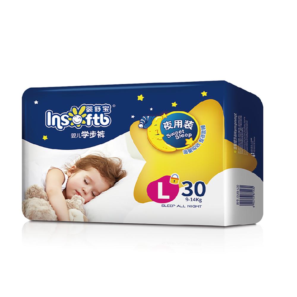 【嬰舒寶】大寶寶穿的拉拉褲 學步褲 L (30片*4包/箱)