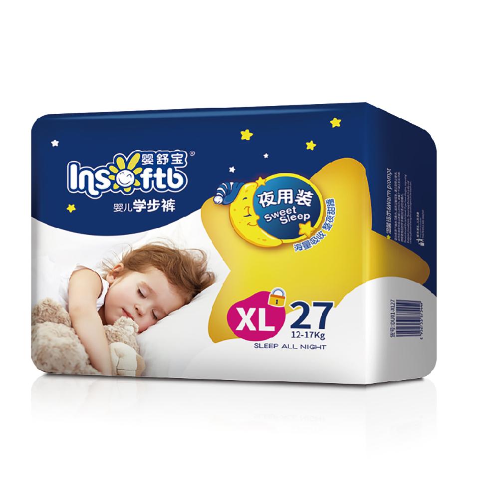 【嬰舒寶】大寶寶穿的拉拉褲 學步褲 XL(27片*4包/箱)