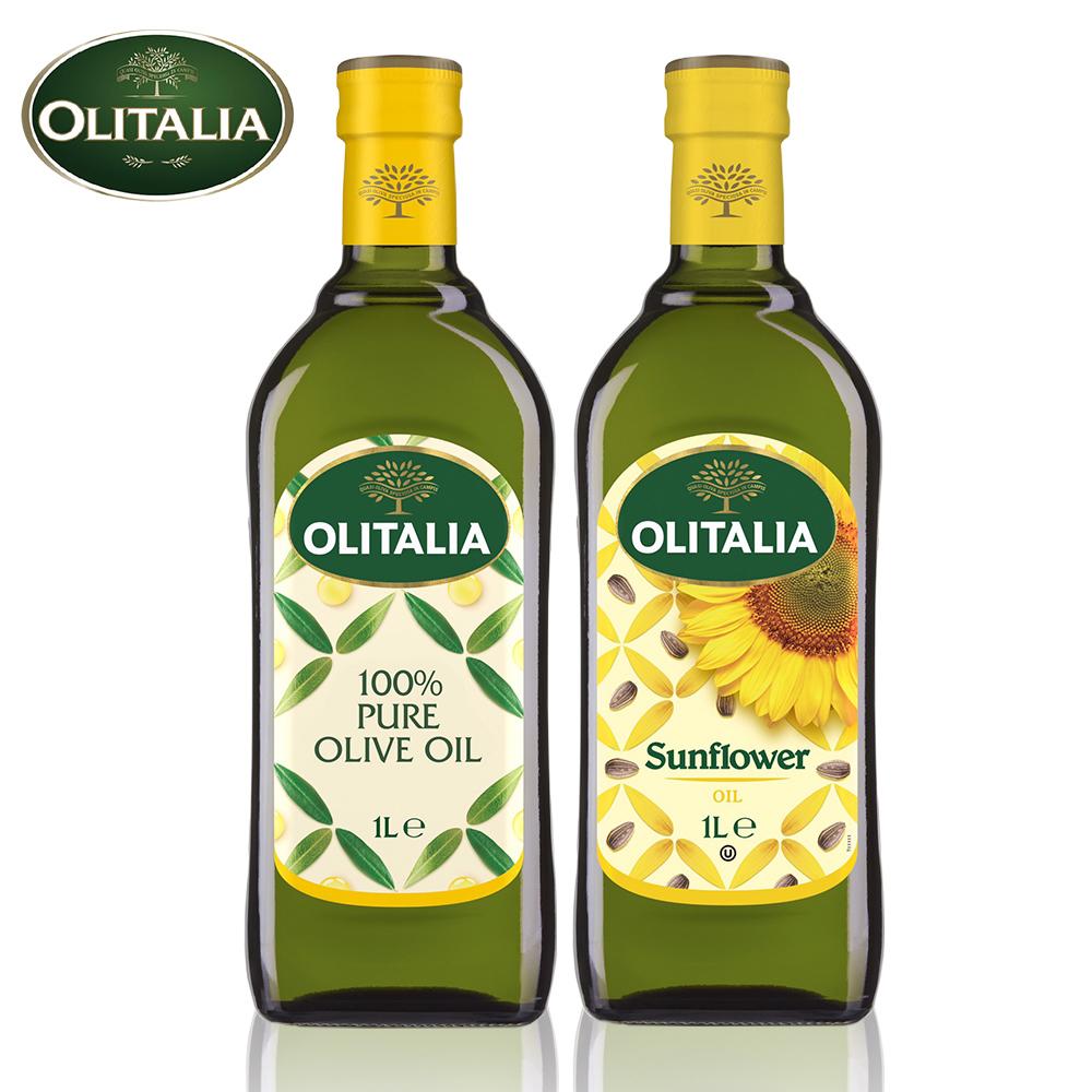 義大利進口奧利塔油單罐9罐組(橄欖x5罐+葵花x4罐)