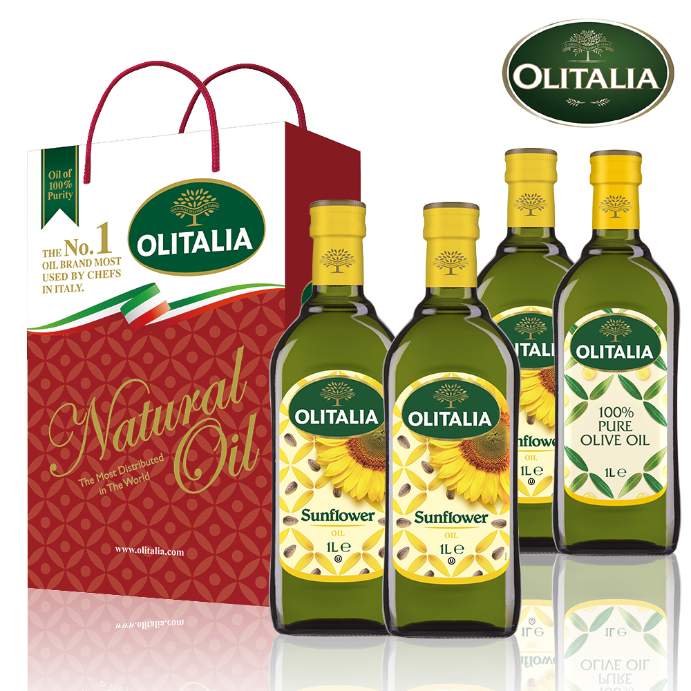 義大利油品雙享特惠組-葵花油禮盒x1+葵橄油禮盒x1