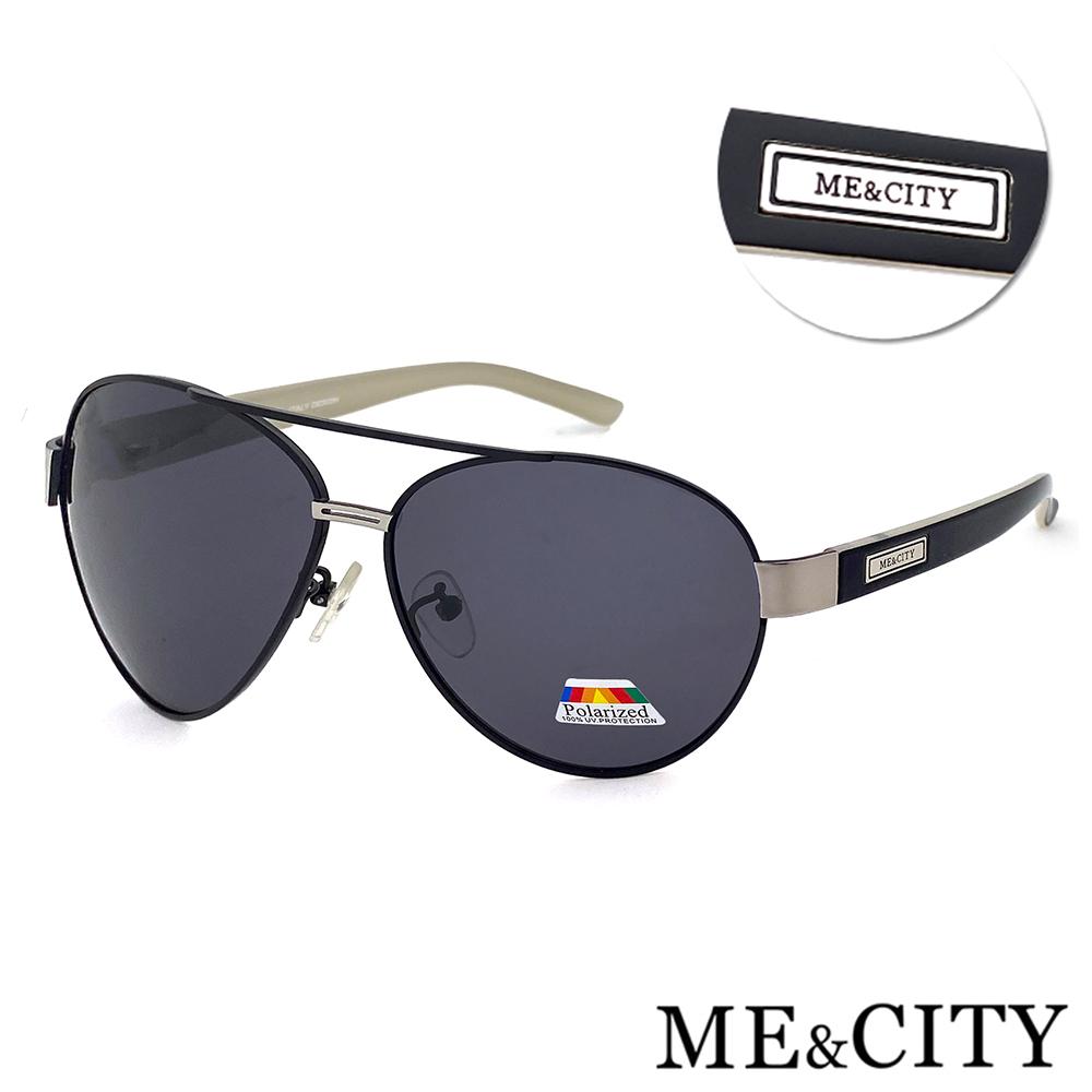 ME&CITY 爵士飛行官金屬偏光太陽眼鏡 抗UV400(ME1106 L01)