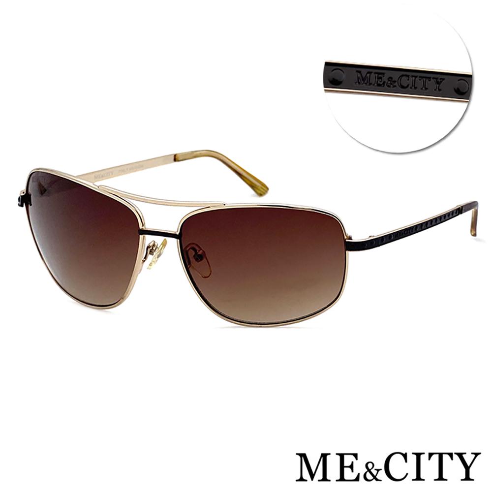 ME&CITY 傲氣飛行官金屬方框太陽眼鏡 抗UV400(ME1104 A01)