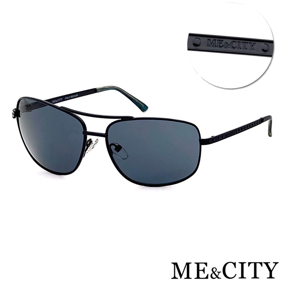 ME&CITY 傲氣飛行官金屬方框太陽眼鏡 抗UV400(ME1104 L01)