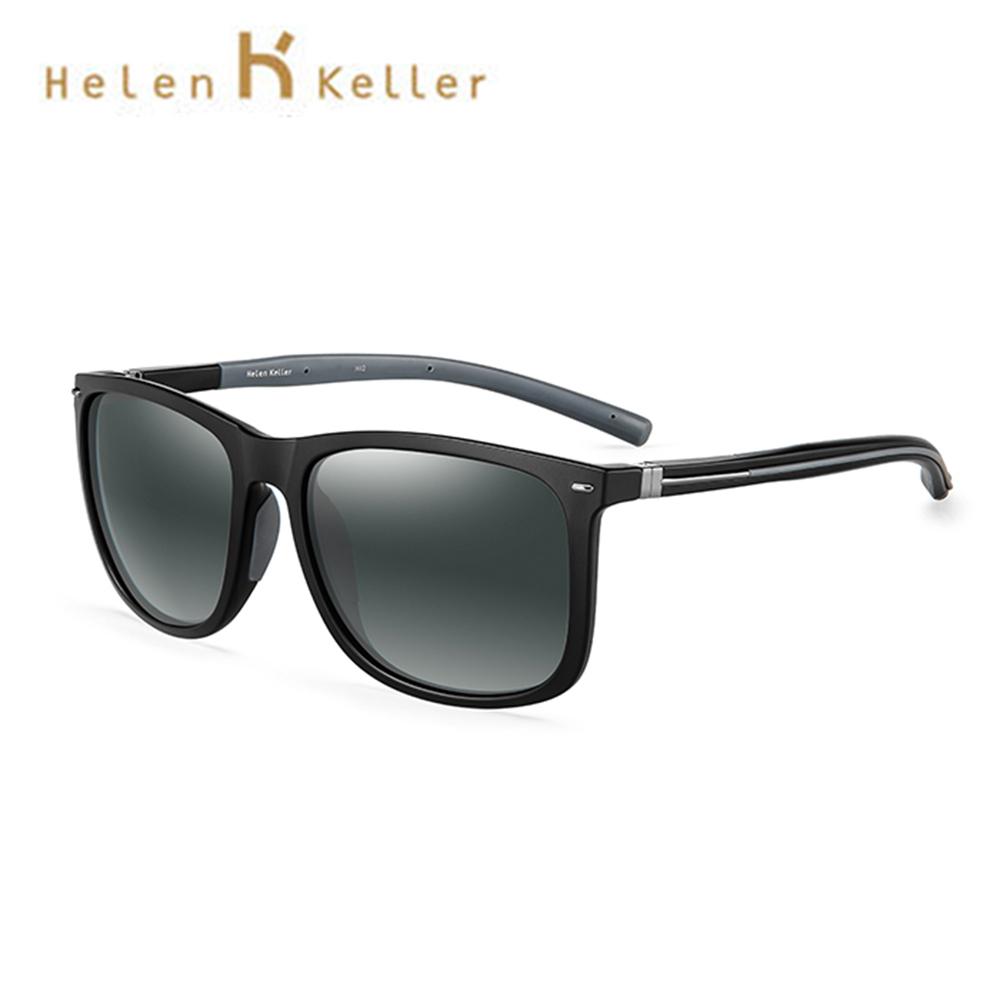 Helen Keller 經典復古紳士偏光墨鏡 TR90彈力材質 抗紫外線 H8750