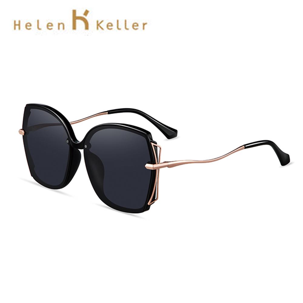 Helen Keller 立體蝶式偏光墨鏡 高圓圓2020代言款 大框顯小臉 抗紫外線 H8928