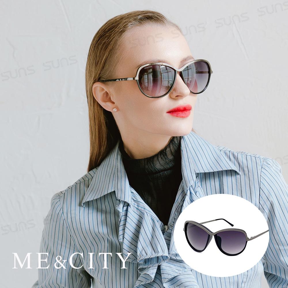 ME&CITY 巴黎香榭雙色經典太陽眼鏡 義大利設計款 抗UV400 (ME 120018 L000)
