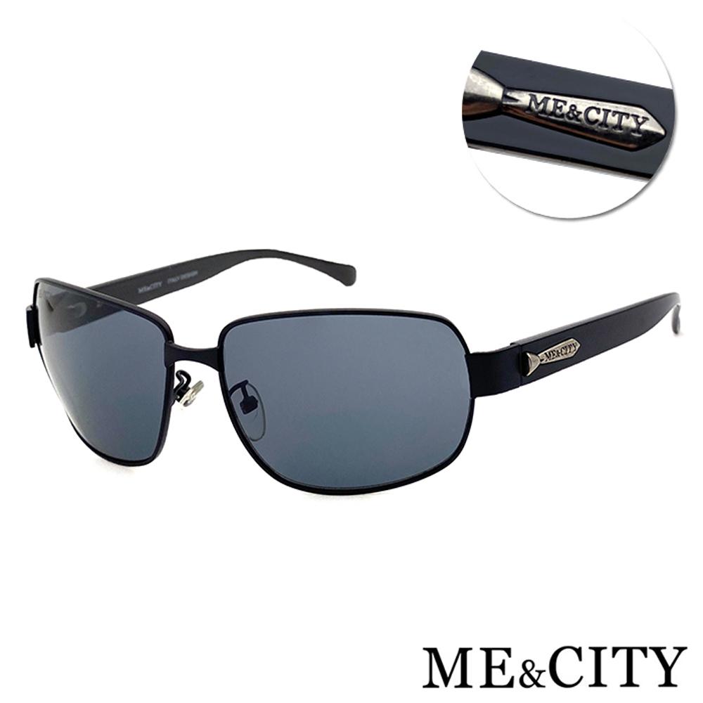 ME&CITY 義式紳士黑質感方框太陽眼鏡 抗UV400 (ME 110013 L600)