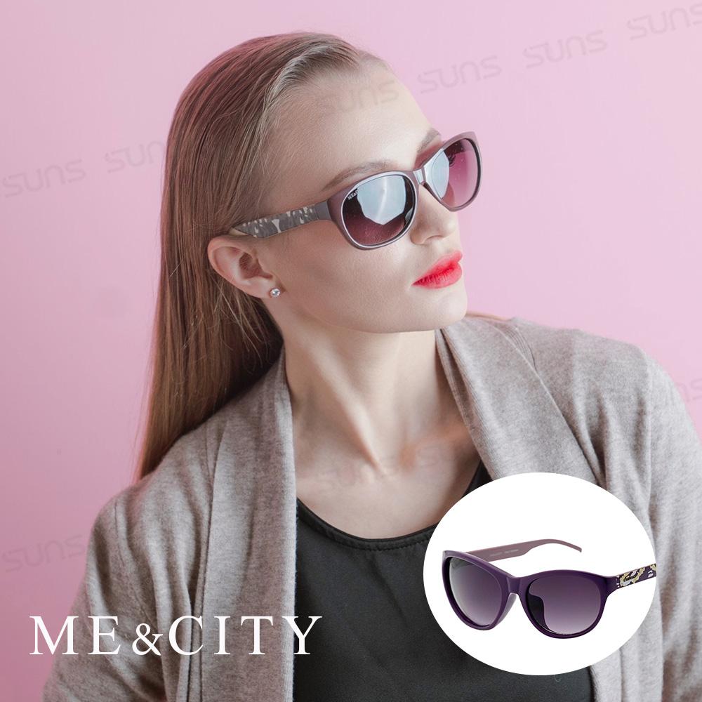 ME&CITY 時尚義式多彩紋樣太陽眼鏡 抗UV400 (ME 120005 H431)