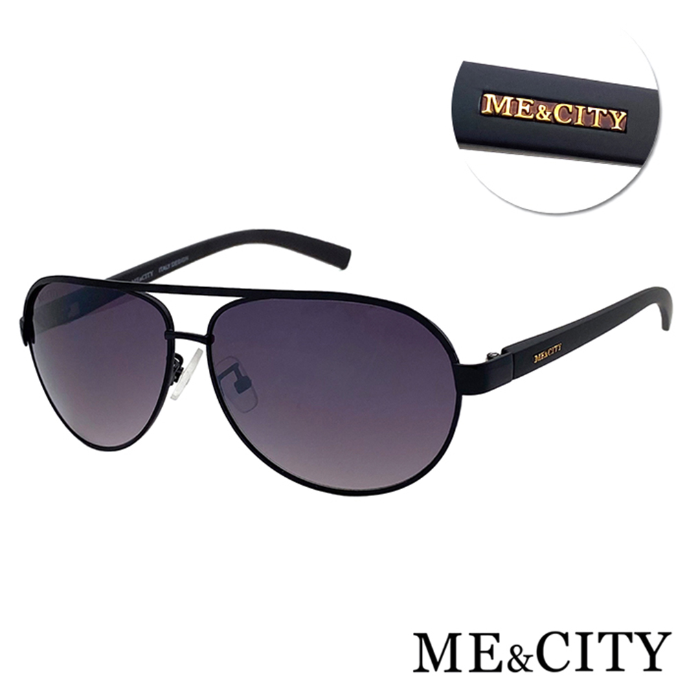 ME&CITY 紳士飛行官太陽眼鏡 抗UV400(ME 110005 A600)