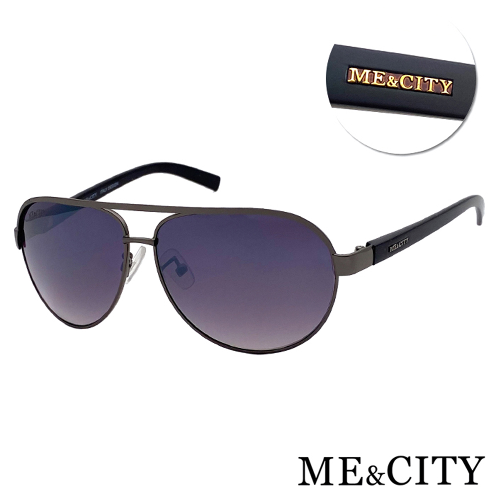 ME&CITY 紳士飛行官太陽眼鏡 抗UV400(ME 110005 C680)