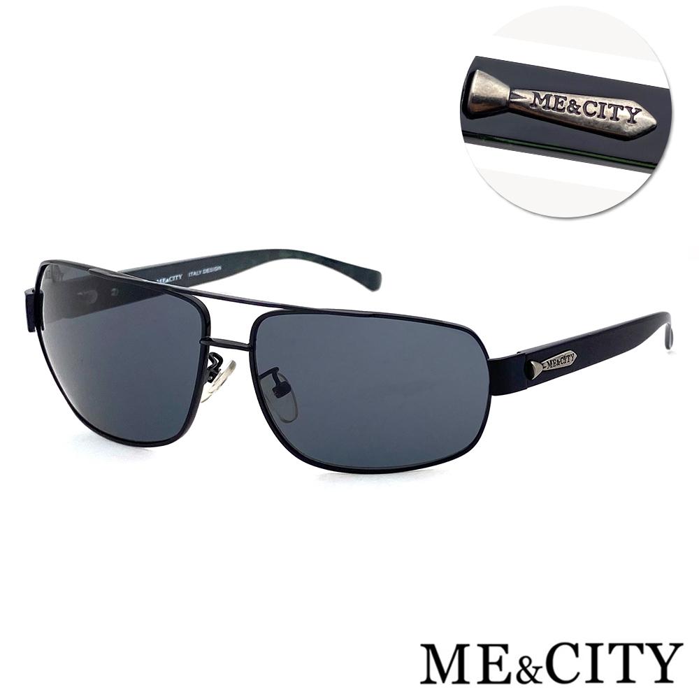 ME&CITY 時尚飛行員金屬方框太陽眼鏡 抗UV400 (ME 110012 L600)