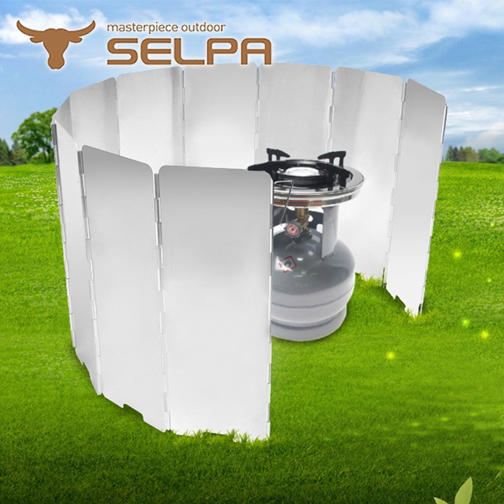 【韓國SELPA】十片加高款鋁合金擋風板(銀色)