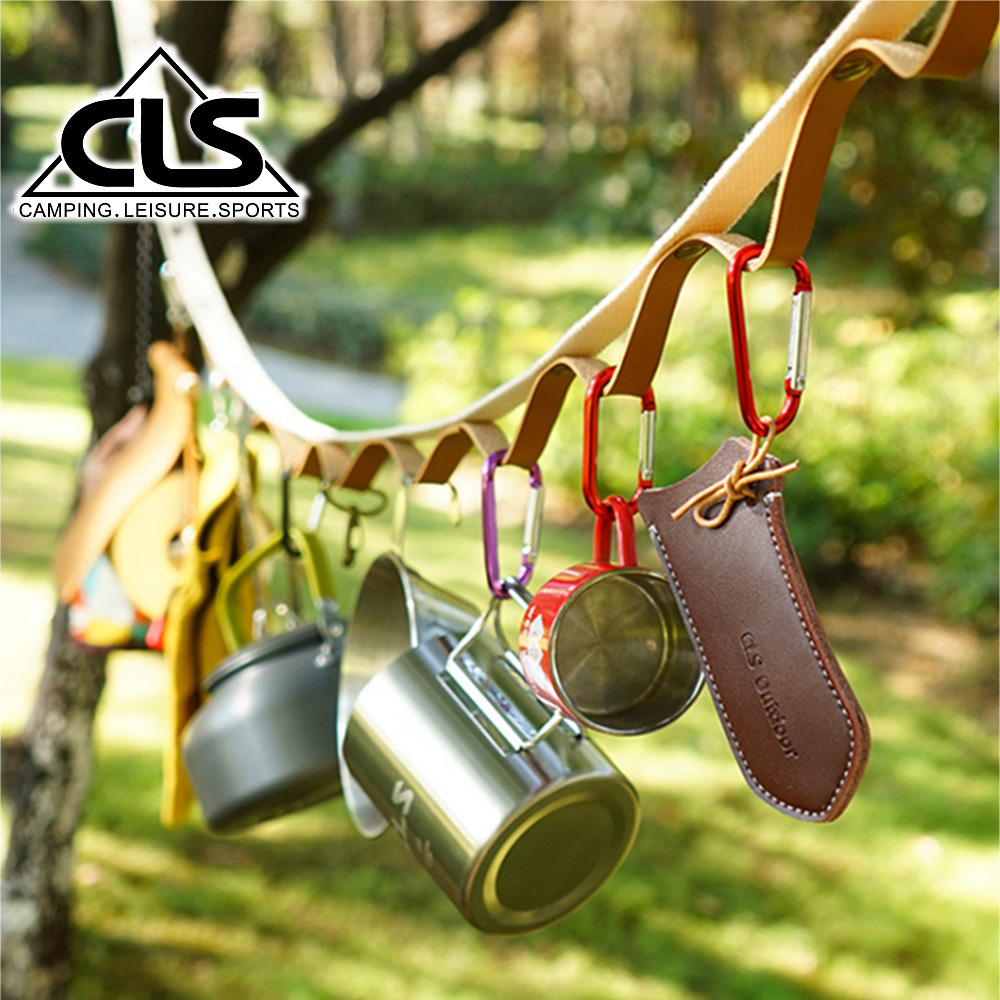 【韓國CLS】多功能露營掛繩 皮革限定加長款/可伸縮掛物繩/彩虹掛繩