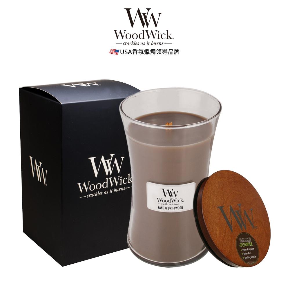 美國WoodWick 白沙浮木 香氛蠟燭 624g