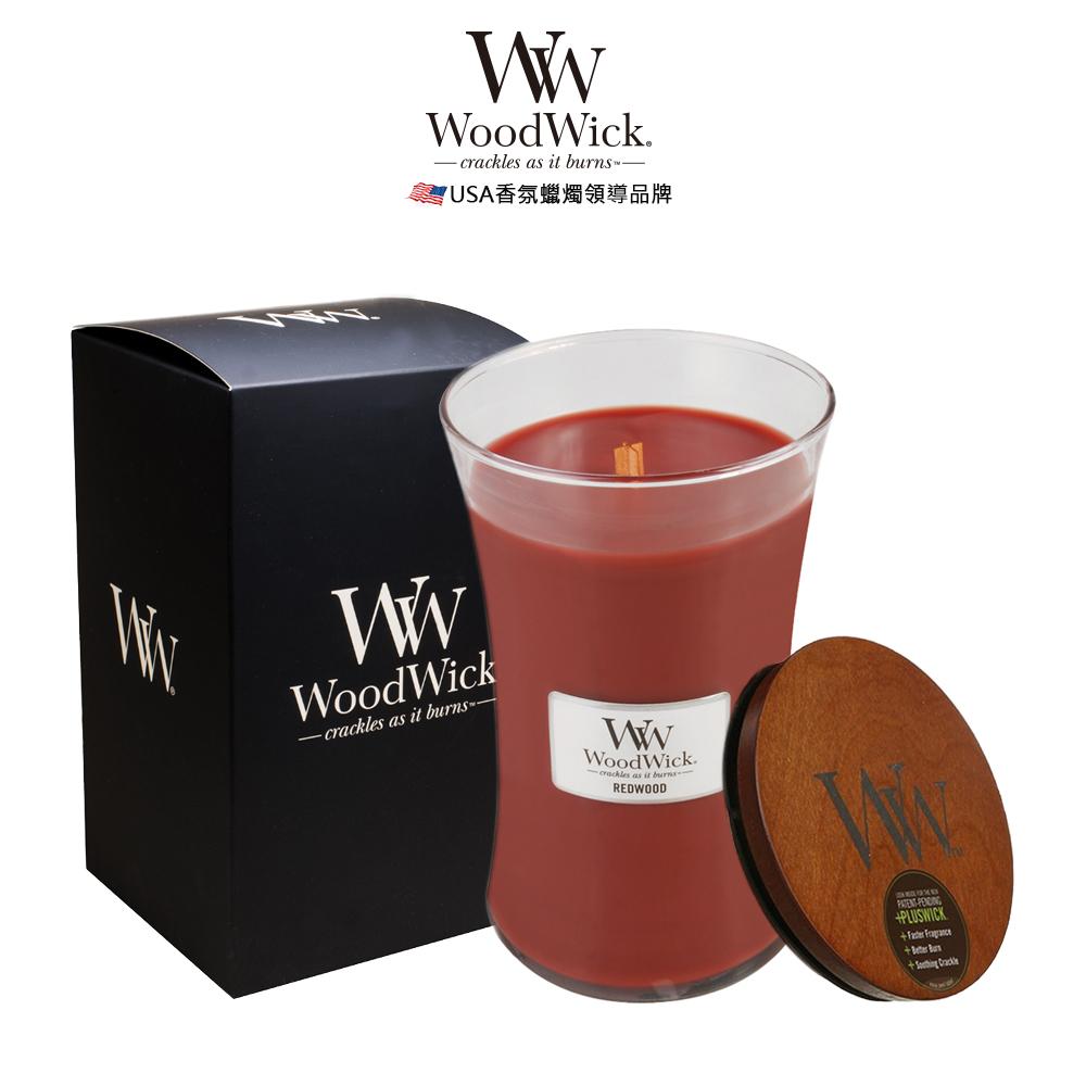 美國WoodWick 紅杉木 香氛蠟燭 624g