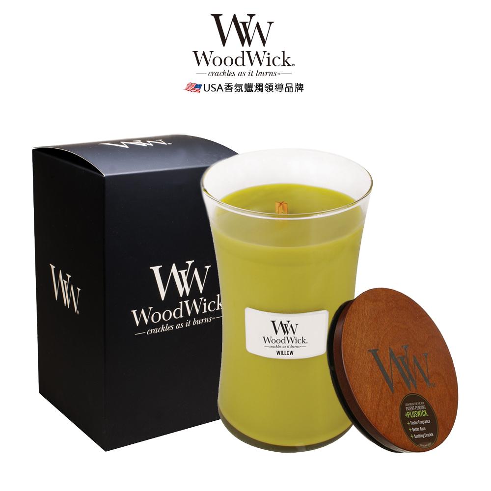 美國WoodWick 柳樹橡苔 香氛蠟燭 624g