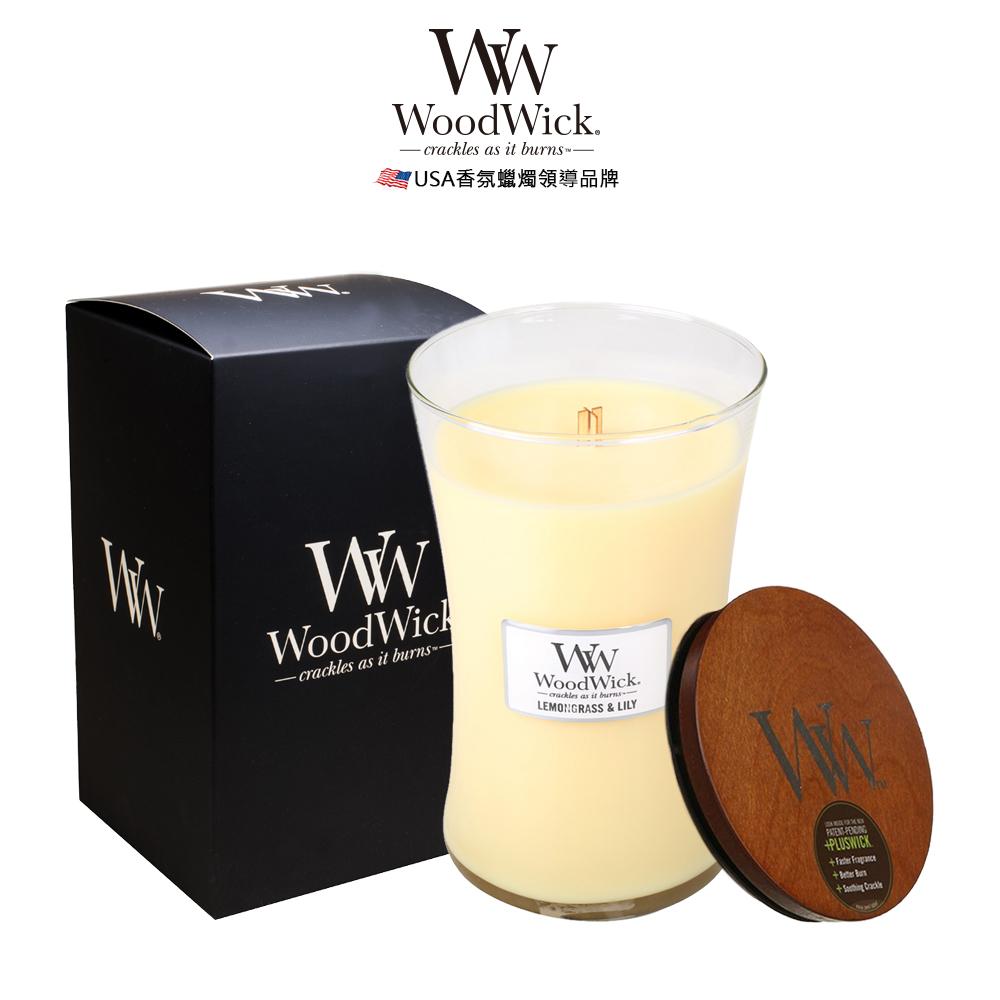 美國WoodWick 水仙檸檬草 香氛蠟燭 624g