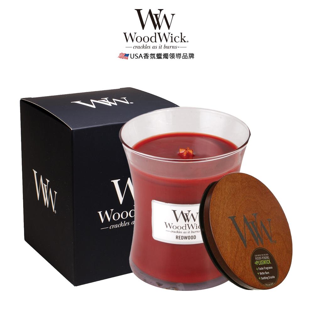 美國WoodWick 紅杉木 香氛蠟燭 275g