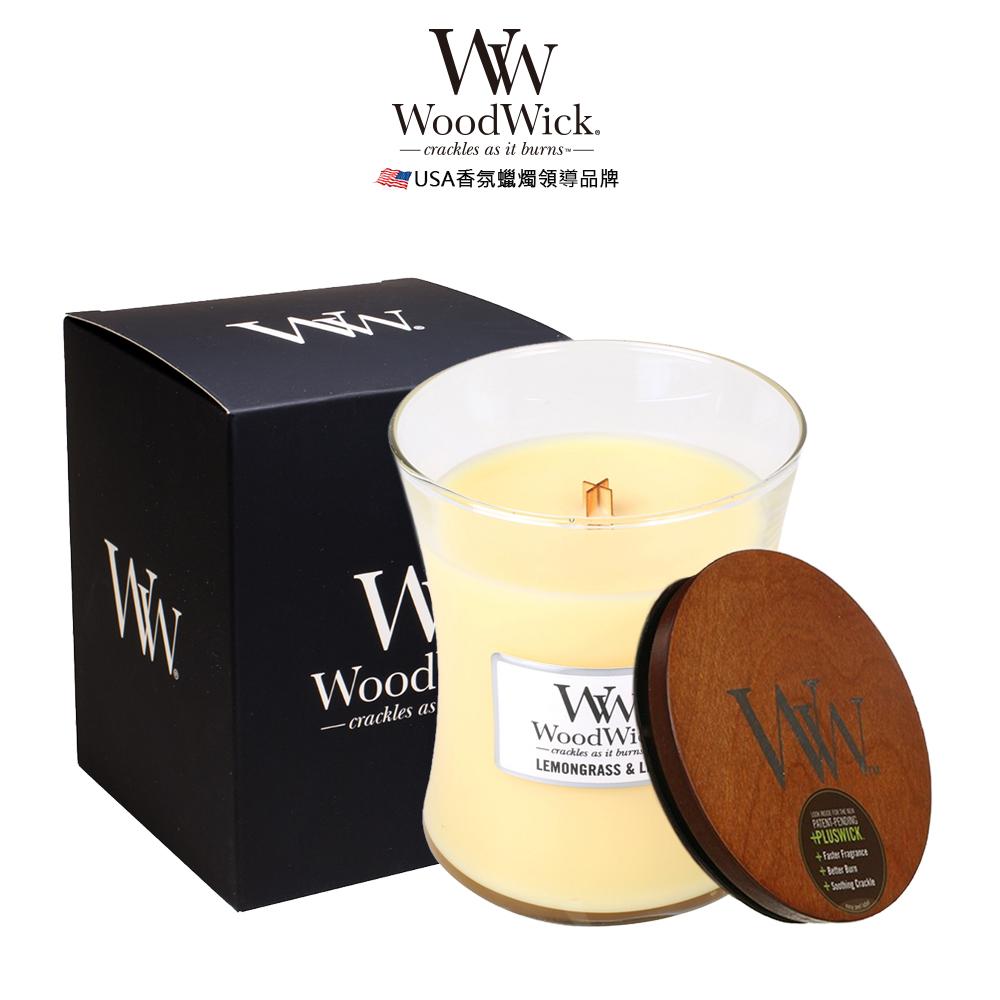 美國WoodWick 水仙檸檬草 香氛蠟燭 275g