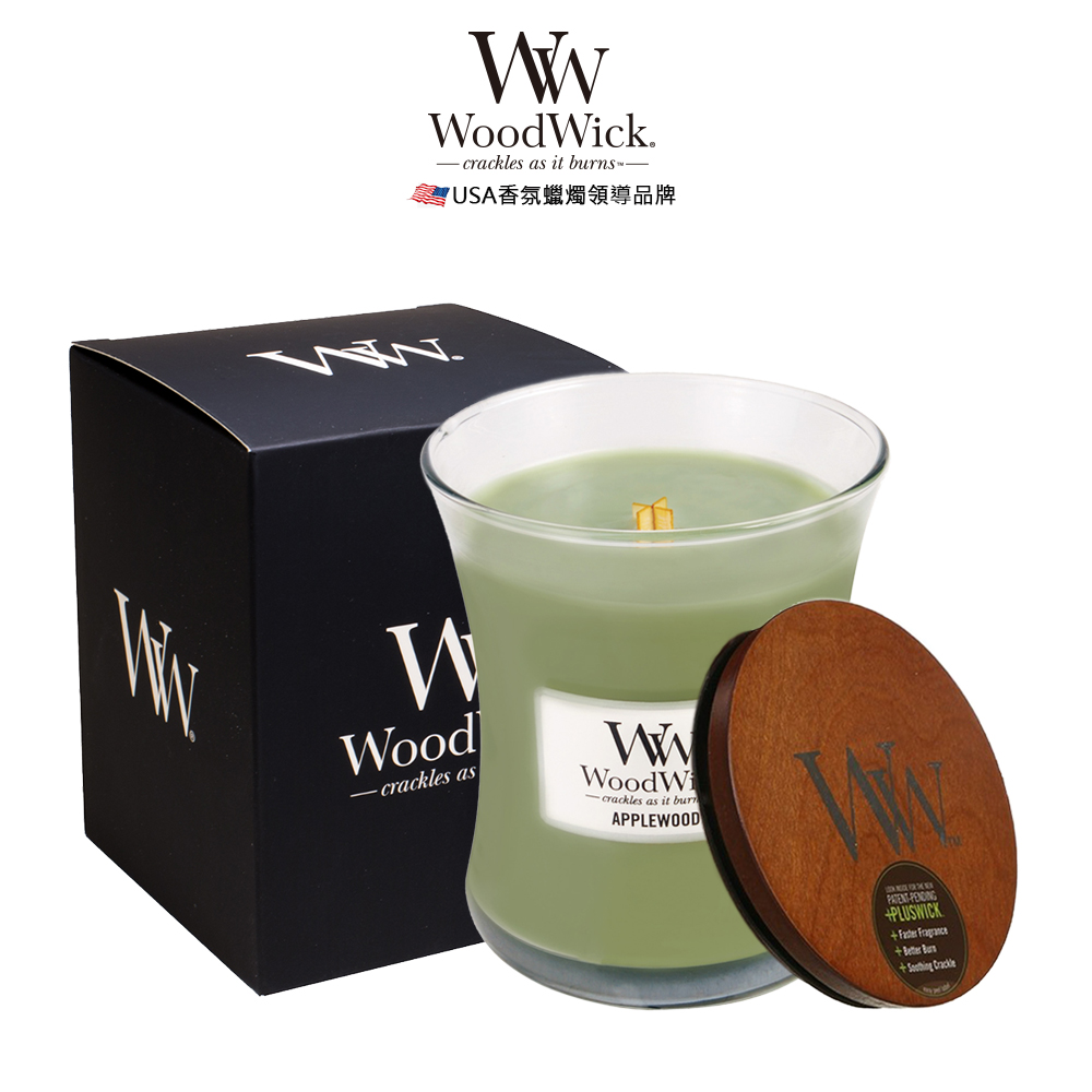 美國WoodWick 蘋果枝椏 香氛蠟燭 275g