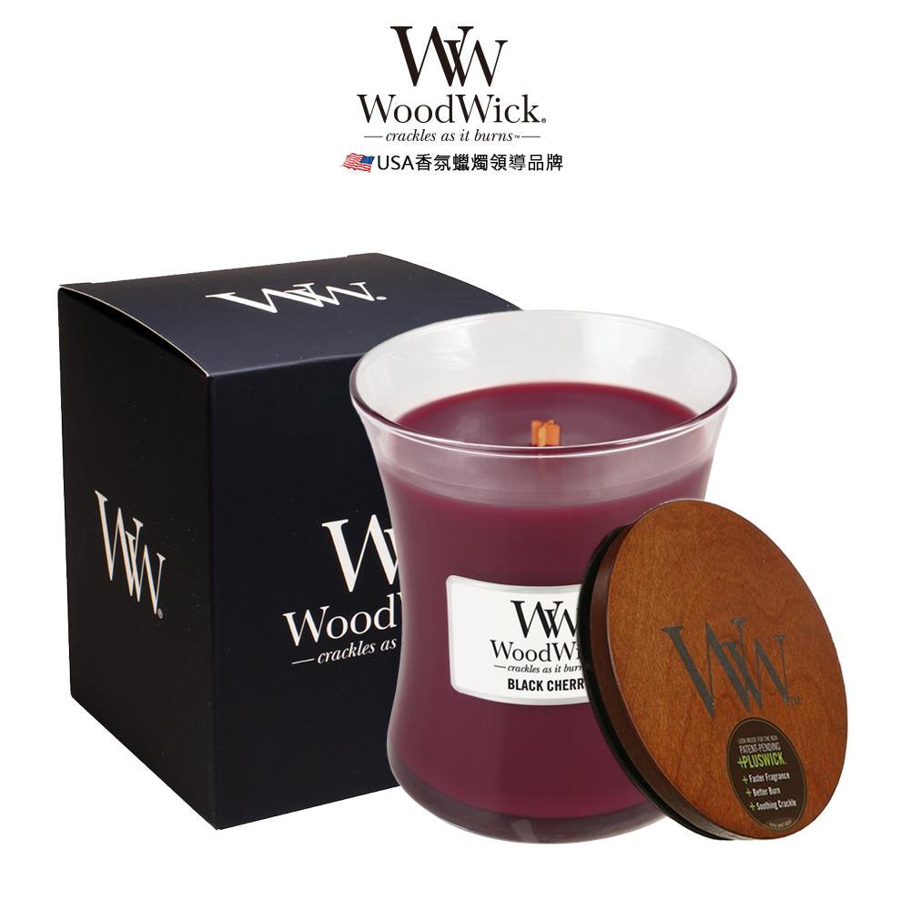 美國WoodWick 黑櫻桃 香氛蠟燭 275g