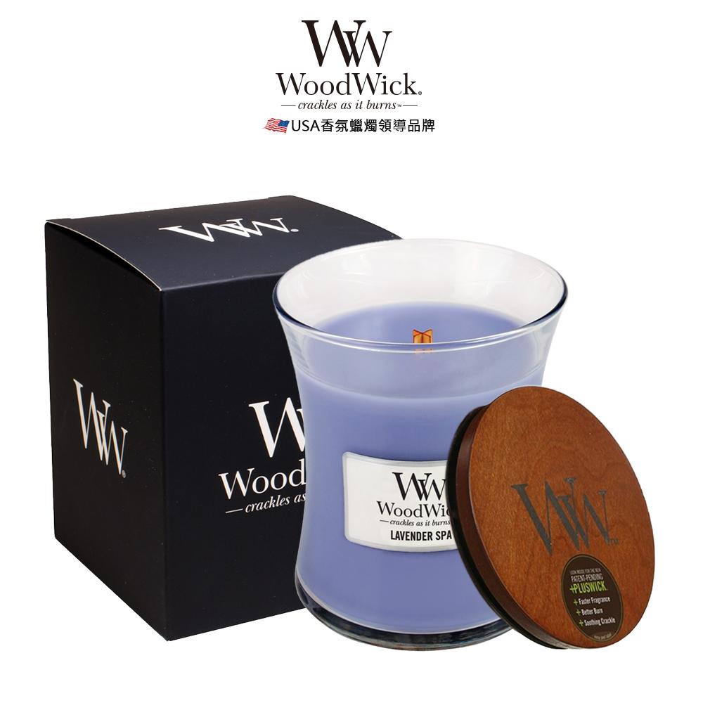美國WoodWick 薰衣草療癒 香氛蠟燭 275g