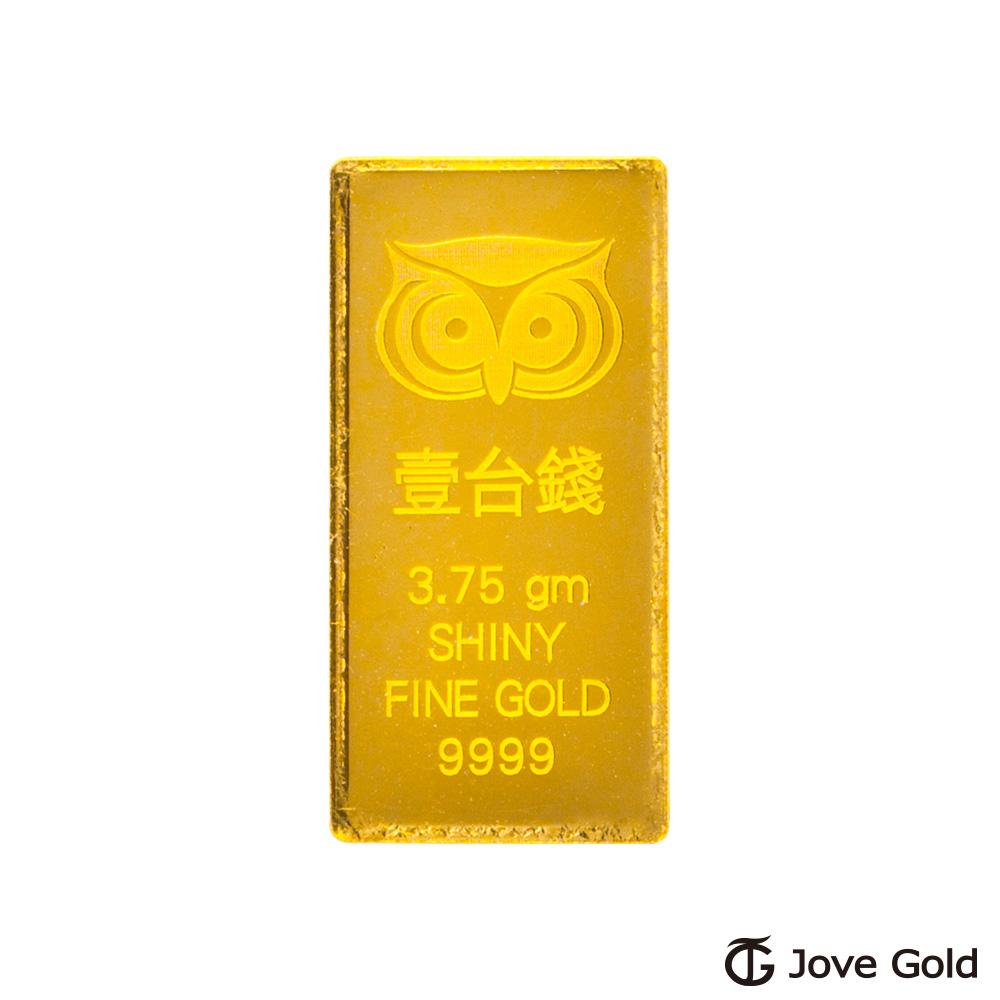 Jove Gold 幸運守護神黃金條塊-壹台錢