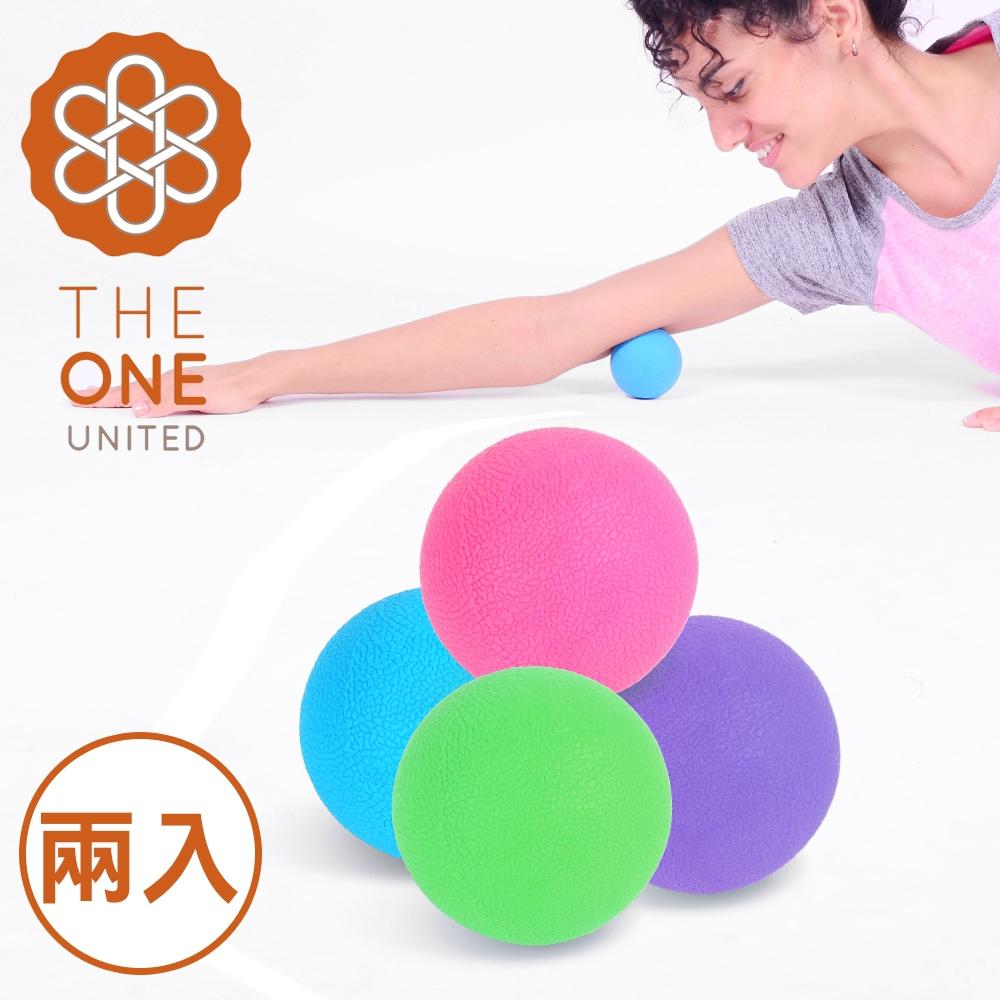 【The One】環保TPE瑜珈筋膜球/按摩球(混色2入)