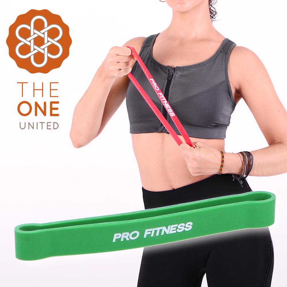 【The One】瑜珈健身 環形阻力帶-綠(25-70磅)