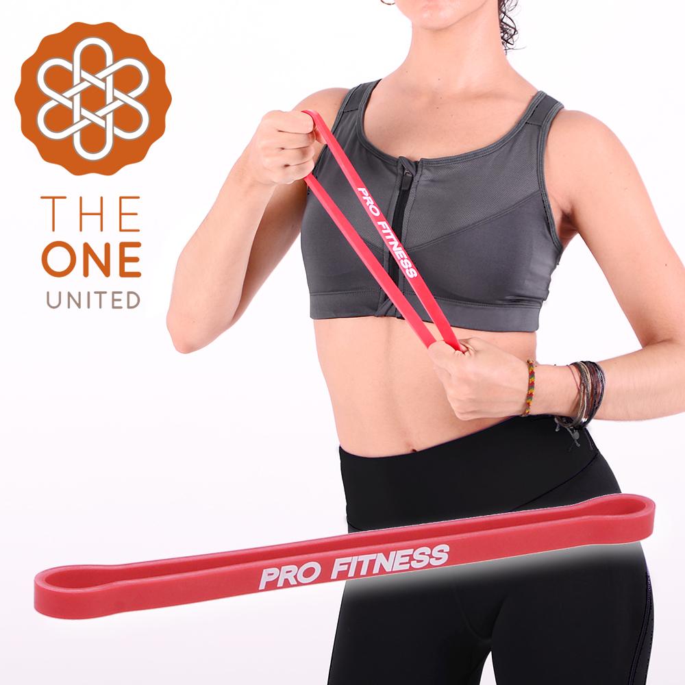 【The One】瑜珈健身 環形阻力帶-紅(10-15磅)
