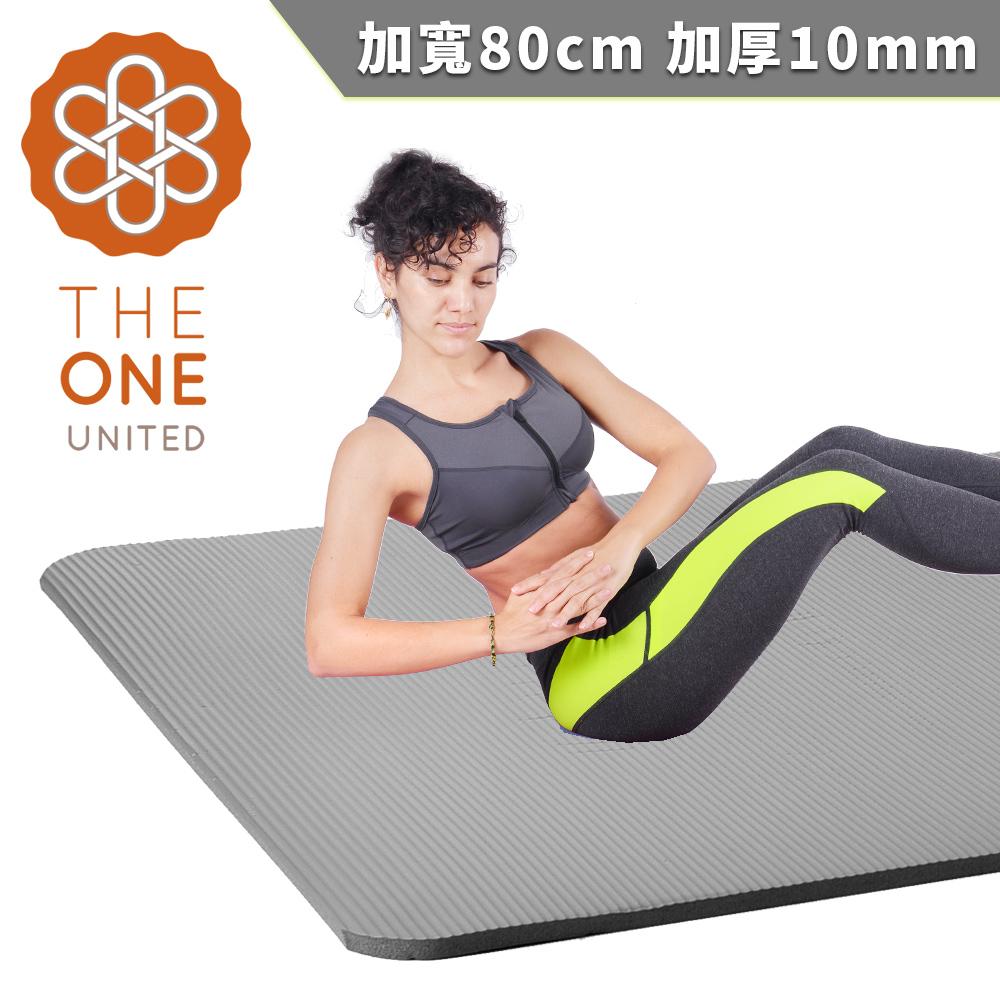 【The One】環保NBR加寬瑜珈墊 10mm(三色任選)