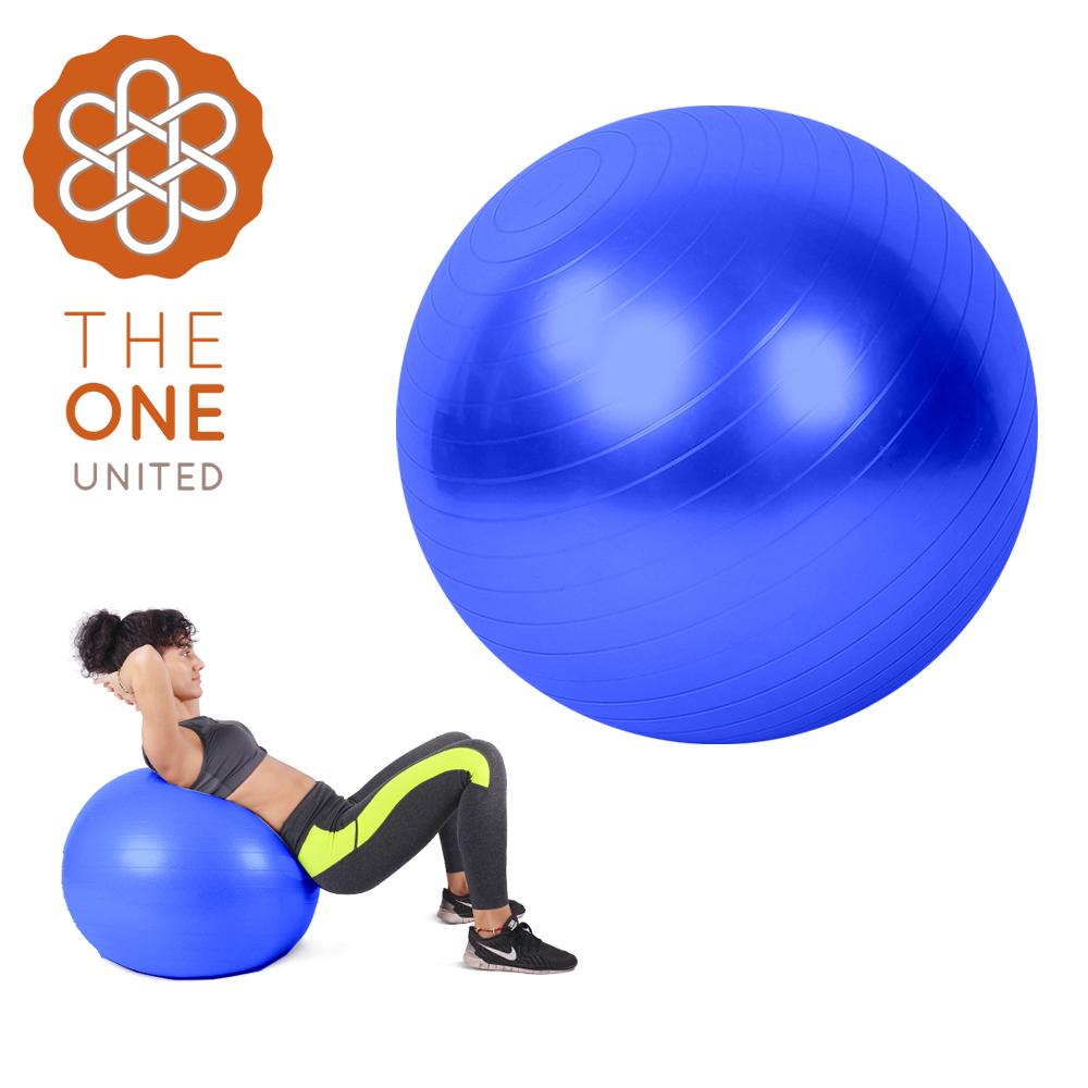 【The One】環保PVC皮拉提斯防爆瑜珈球65cm(附打氣工具)(三色任選)