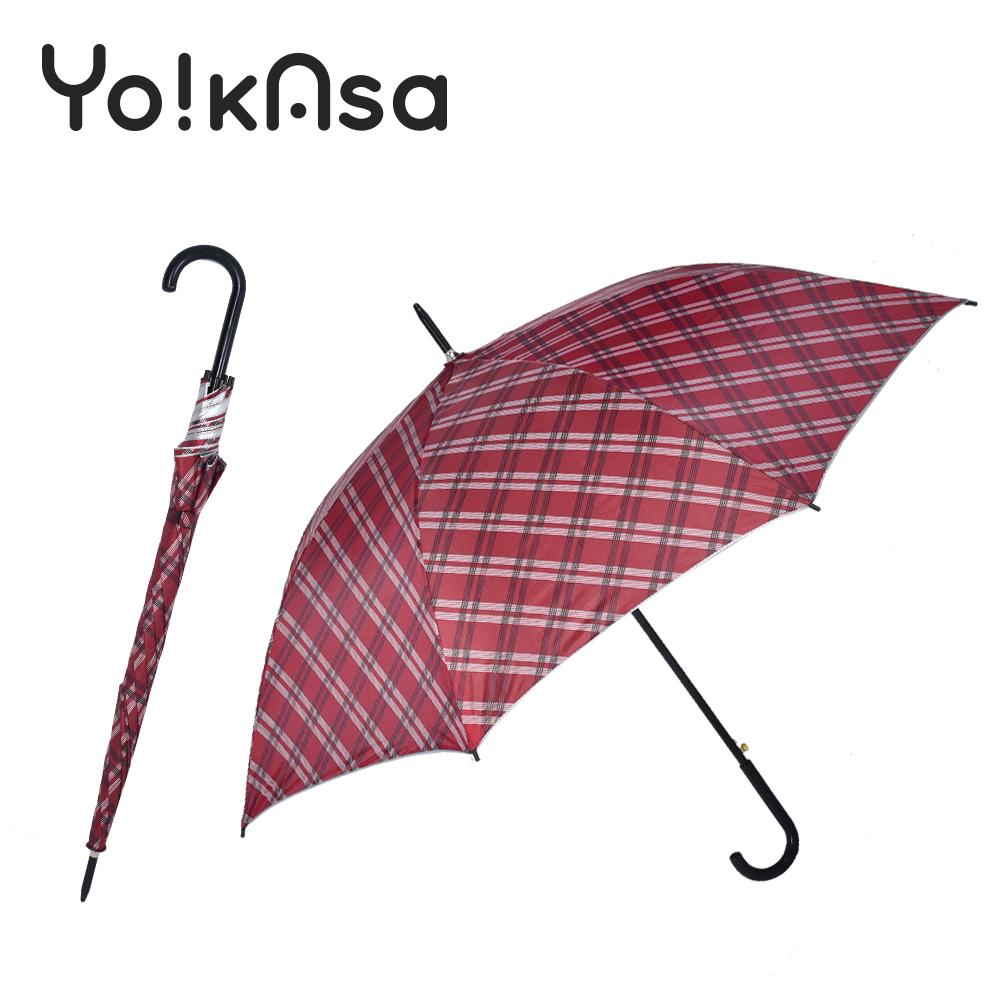 【Yo!kAsa】經典格紋 晴雨自動直傘