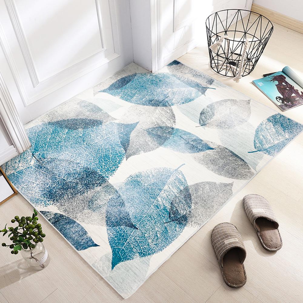 【收納職人】現代簡約輕奢北歐ins風地毯/床邊毯/茶几毯_樹葉有愛