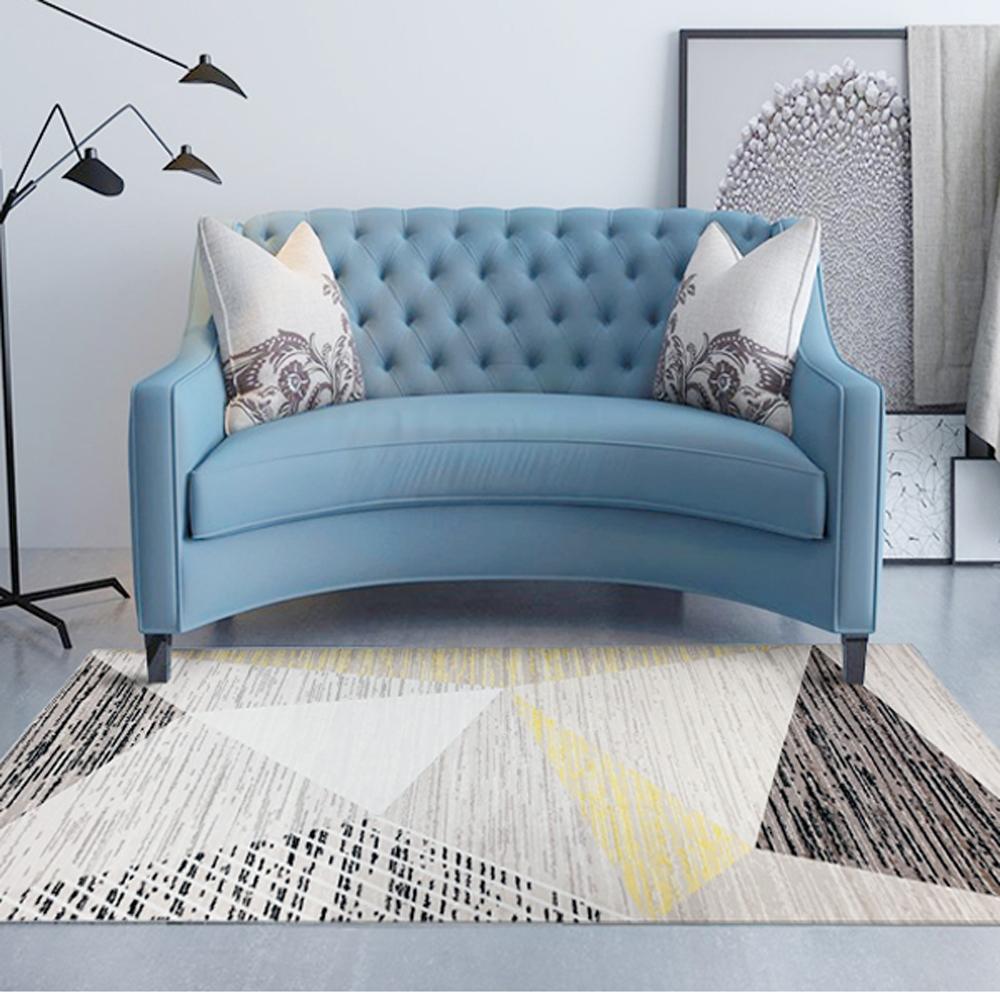【收納職人】現代簡約輕奢北歐ins風地毯/床邊毯/茶几毯_現代幾何