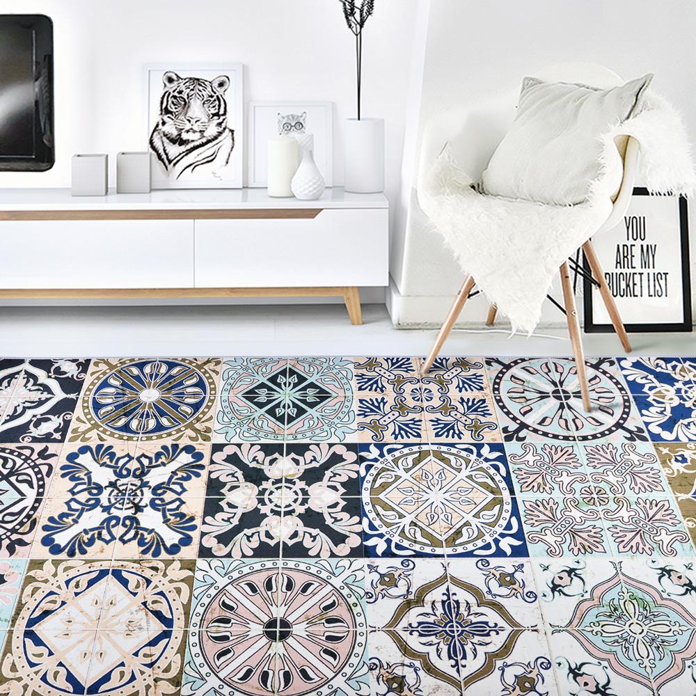 【收納職人】現代歐美輕奢風地毯/床邊毯/茶几毯_波西米亞風