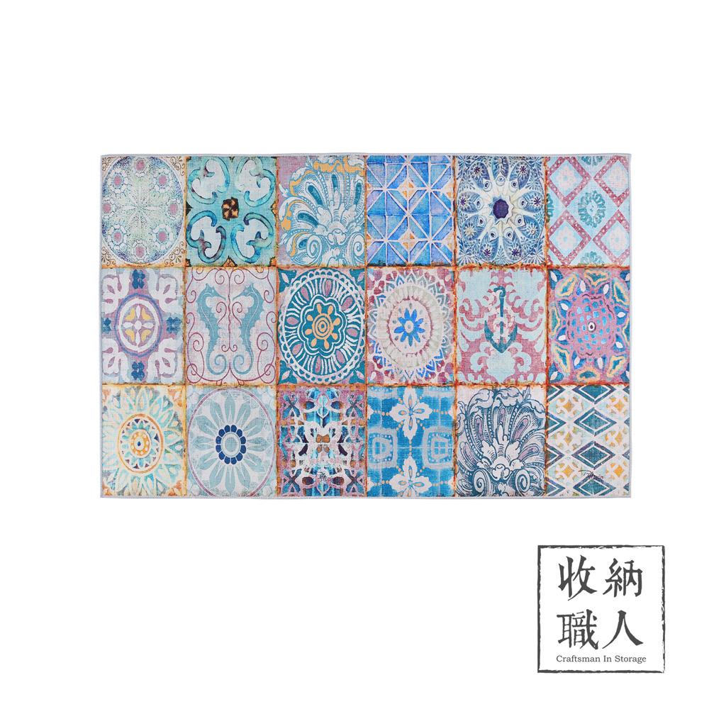 【收納職人】現代歐美輕奢風地毯/床邊毯/茶几毯_多彩波西米亞風