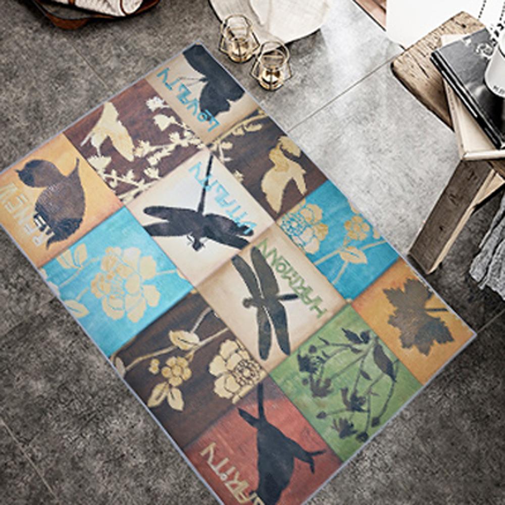 【收納職人】現代歐美輕奢風地毯/床邊毯/茶几毯_花花世界