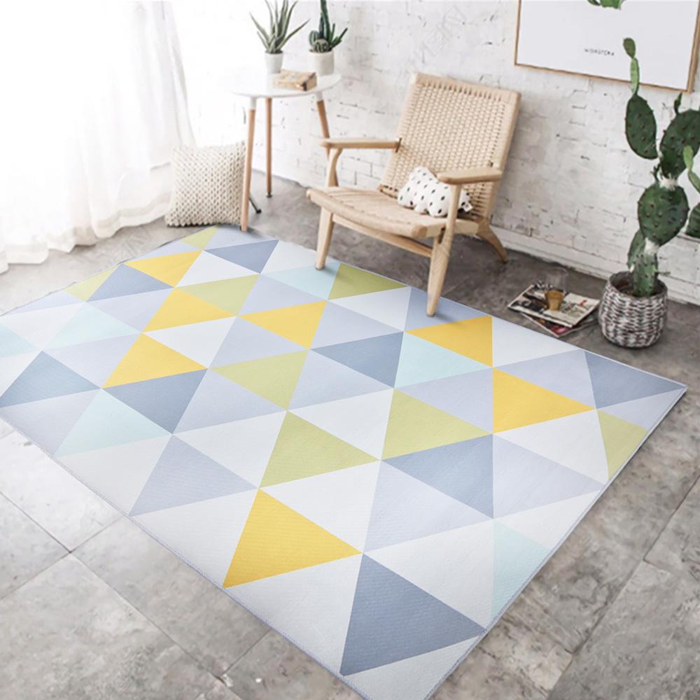 【收納職人】現代歐美輕奢風地毯/床邊毯/茶几毯_彩三角