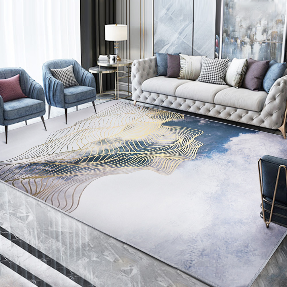 【收納職人】現代歐美輕奢風地毯/床邊毯/茶几毯_雲中畫