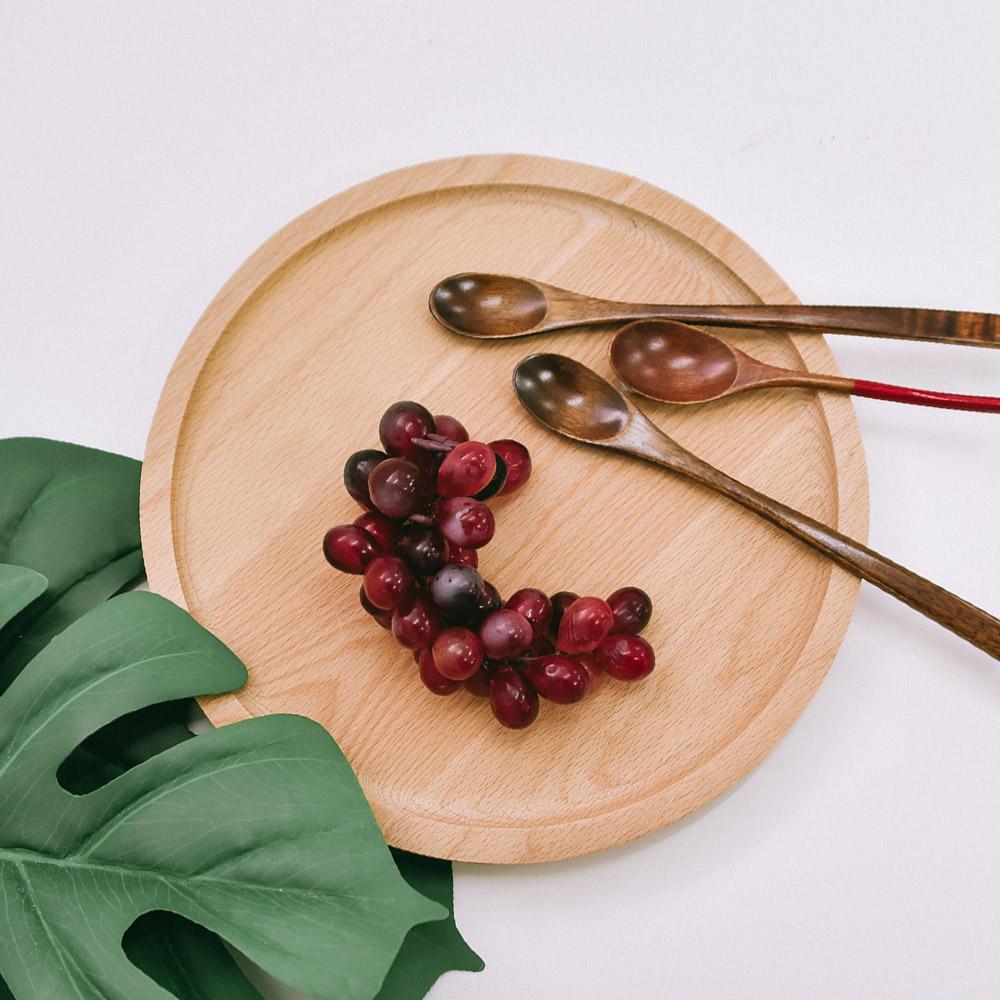 【Homely Zakka】木趣食光木質圓型托盤/餐盤 (大圓 23x23cm)